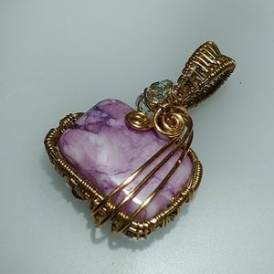 🇨🇦 Hand wire wrapped Amethyst Pendant